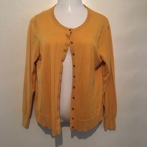 Old Navy mustard yellow cardigan. Size xl.